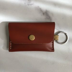 Handmade Leather Credit Card Holder Keychain